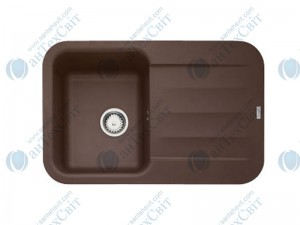 Гранитная мойка FRANKE Pebel PBG 611-78 шоколад 114.0258.044