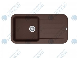 Гранитная мойка FRANKE Pebel PBG 611-97 шоколад 114.0258.071