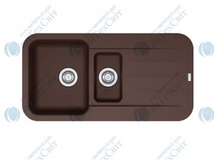 Гранитная мойка FRANKE Pebel PBG 651 шоколад 114.0258.078