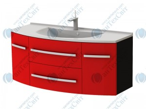 Умывальник с тумбой BOTTICELLI Vanessa Vn-120 red