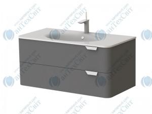 Умывальник с тумбой BOTTICELLI Velluto VLT-100 grey