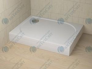 Душевой поддон RADAWAY Delos D+панель левая 100х75х15 (4D17515-03L)