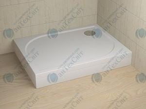 Душевой поддон RADAWAY Delos D+панель правая 100х75х15 (4D17515-03R)