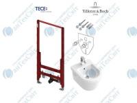Инсталляция TECE (9330000)+звукоизоляционная прокладка (9200010)+комплект крепления(9380007)+биде Villeroy&Boch Omnia Architectura (54840001)