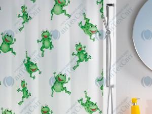 Шторка для ванной виниловая SPIRELLA  Frogtime 200х180 (10.06487)