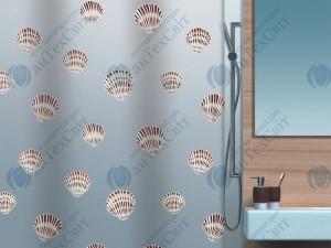 Шторка для ванной виниловая SPIRELLA  Shell 200х180 (10.15239)