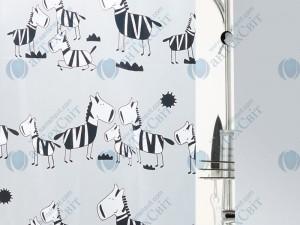 Шторка для ванной виниловая SPIRELLA  Zebi 200х180 (10.40502)