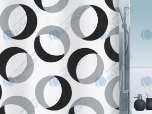 Шторка для ванной текстильная SPIRELLA  Rings 200х180 (10.15184)