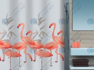 Шторка для ванной текстильная SPIRELLA  Flamingo 200х180 (10.16355)