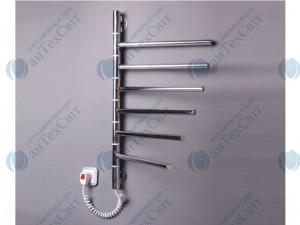 Электрический полотенцесушитель ЭЛНА Вертикаль-6 (ВП6-69424-50-Н) 400*645