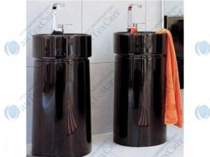 Умывальник FLAMINIA Twin (5050/COLP black)