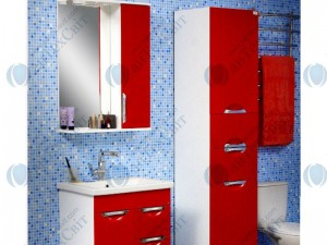 Зеркало САНСЕРВИС Лаура-60 красный/белый