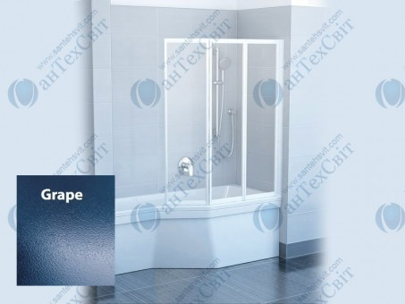 Шторка для ванной RAVAK VS3 130 795V0100ZG