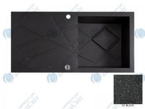 Гранитная мойка MARMORIN Foorn II 460113002 black