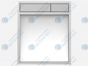 Клавиша SANIT 16.734.00.0062 стекло белое/матовый хром