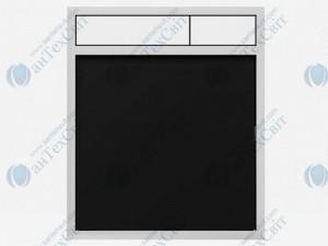 Клавиша SANIT 16.734.00.0030 стекло черное/белый