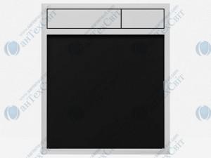 Клавиша SANIT 16.734.00.0046 стекло черное/хром