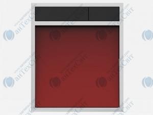 Клавиша SANIT 16.734.00.0038 стекло красное/черный