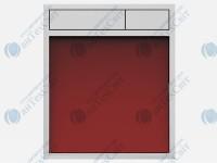 Клавиша SANIT 16.734.00.0002 стекло красное/хром