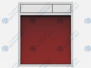 Клавиша SANIT 16.734.00.0057 стекло красное/матовый хром