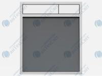 Клавиша SANIT 16.734.00.0021  стекло антрацитовое/белый
