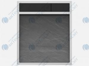 Клавиша SANIT 16.734.00.0053  сланец серый/черный