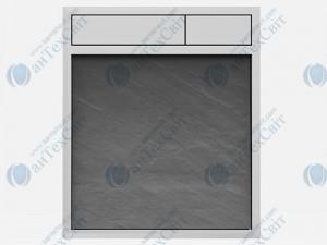 Клавиша SANIT 16.734.00.0045  сланец серый/хром
