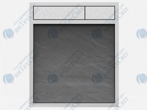 Клавиша SANIT 16.734.00.0023 сланец серый/хром