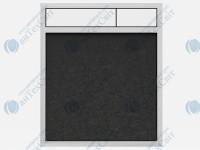 Клавиша SANIT 16.734.00.0022 гранит черный/белый