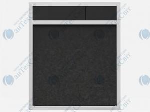 Клавиша SANIT 16.734.00.0035 гранит черный/черный
