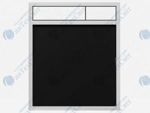 Клавиша SANIT 16.734.00.0058 гранит черный/матовый хром
