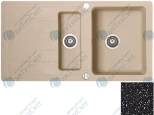 Гранитная мойка MARMORIN Sten 385513012 black metallic
