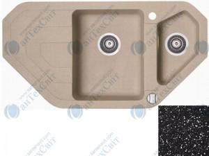 Гранитная мойка MARMORIN Sten 385613012 black metallic
