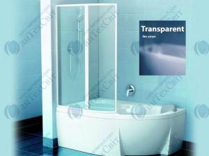 Шторка для ванной RAVAK VSK2 Rosa 140 76L70100Z1