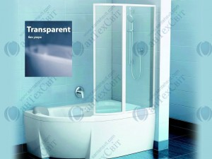 Шторка для ванной RAVAK VSK2 Rosa 140 76P70100Z1