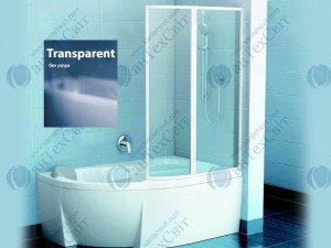 Шторка для ванной RAVAK VSK2 Rosa 150 76P80100Z1
