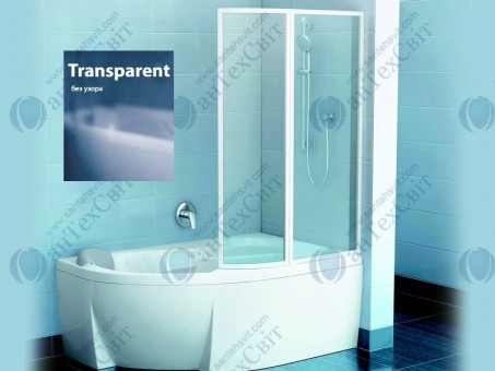 Шторка для ванной RAVAK VSK2 Rosa 160 76P90100Z1