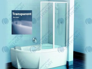 Шторка для ванной RAVAK VSK2 Rosa II 170 76PB0100Z1