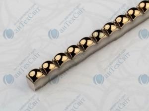 Фриз CEROSSA CERAMICA Бусинка 0,7*25 золото металлик