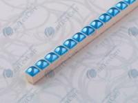 Фриз CEROSSA CERAMICA Бусинка 0,7*25 голубая люстрированная