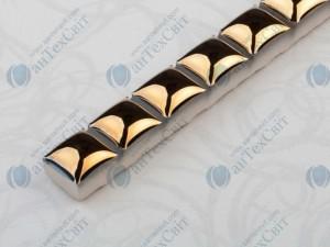 Фриз CEROSSA CERAMICA Бусинка 1,3*25 золото металлик