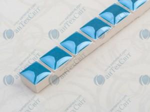 Фриз CEROSSA CERAMICA Бусинка 1,3*25 голубая люстрированная