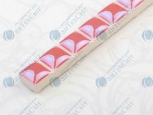 Фриз CEROSSA CERAMICA Бусинка 1,3*25 розовая люстрированная