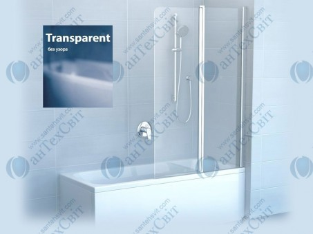 Шторка для ванной RAVAK CVS2 100 7QRA0100Z1