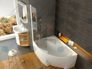 Шторка для ванной RAVAK Rosa CVSK1 140/150 L (7QLM0100Y1)