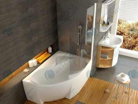 Шторка для ванной RAVAK Rosa CVSK1 140/150 R (7QRM0100Y1)