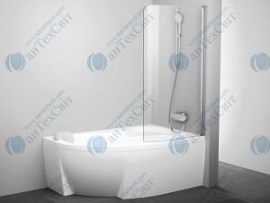Шторка для ванной RAVAK Rosa CVSK1 140/150 R (7QRM0C00Y1)