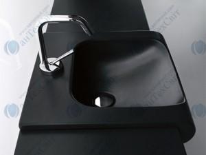 Умывальник KERASAN Inka Project 40 (341231) черный матовый