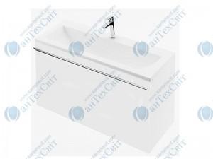 Тумба RAVAK Clear SD 100 белый/белый под умывальник (X000000759)