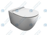 Чаша подвесного унитаза SIMAS Vignoni Rimless с креплением и сиденьем slow-closing (VI18 + F85 + VI004)